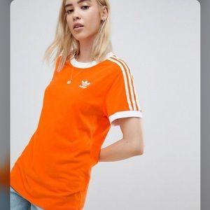 Adidas 3 Stripe Short sleeve tee small shirt